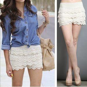 🆕💕Listing 💕 Crochet Lace Shorts